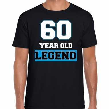 60 legend verjaardag cadeau t-shirt zwart voor heren