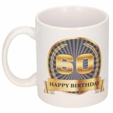 60e verjaardag cadeau beker / mok 300 ml
