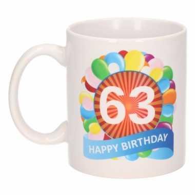 63e verjaardag cadeau beker / mok 300 ml