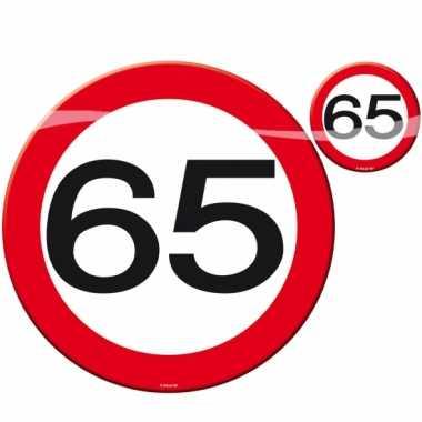 65 jaar placemats/onderzetters