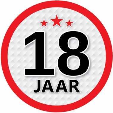 6x leeftijd versiering stickers 18 jaar