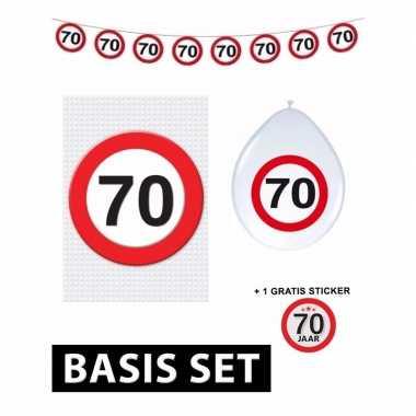 70 jaar versiering pakket verkeersbord basic