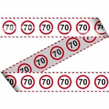70 markeerlint met stopborden