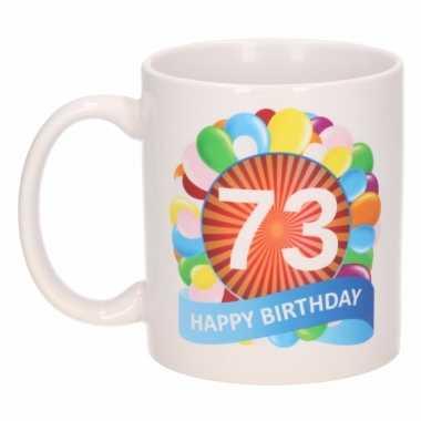 73e verjaardag cadeau beker / mok 300 ml