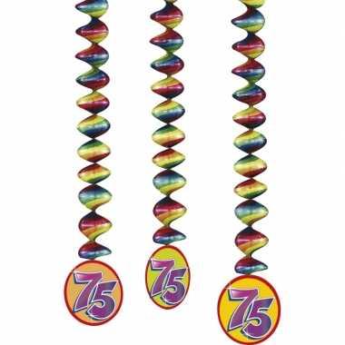 75 jaar decoratie rotorspiralen 9x stuks