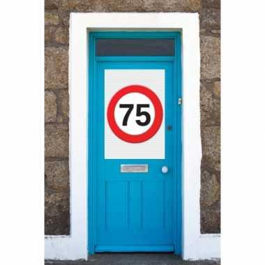 75 jaar verkeersbord deurposter a1