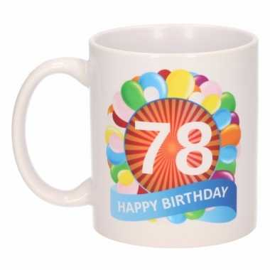 78e verjaardag cadeau beker / mok 300 ml