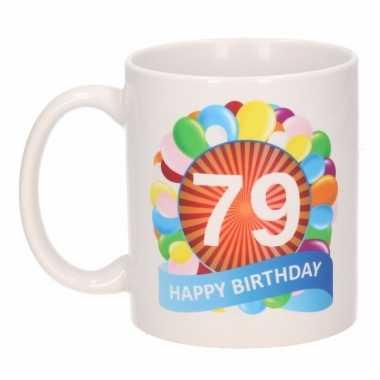 79e verjaardag cadeau beker / mok 300 ml