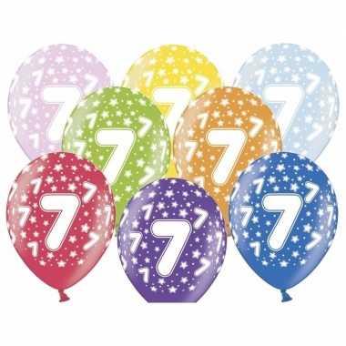 7e verjaardag ballonnen met sterretjes
