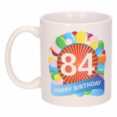 84e verjaardag cadeau beker / mok 300 ml