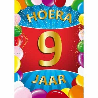 Uitgelezene 9 jaar mega deurposter   Verjaardag-versiering.nl MF-16