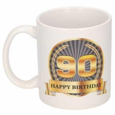 90e verjaardag cadeau beker / mok 300 ml