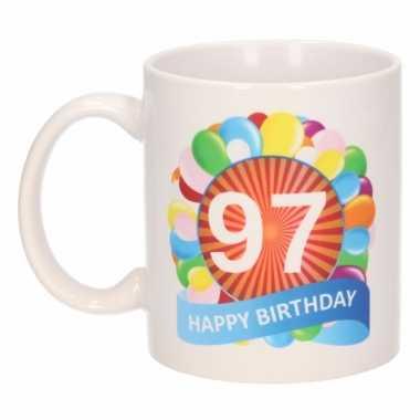 97e verjaardag cadeau beker / mok 300 ml