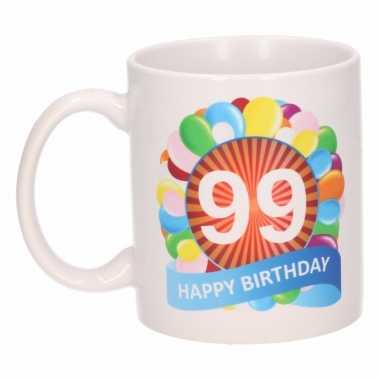 99e verjaardag cadeau beker / mok 300 ml