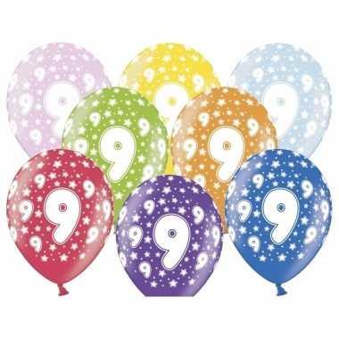 9e verjaardag ballonnen met sterretjes