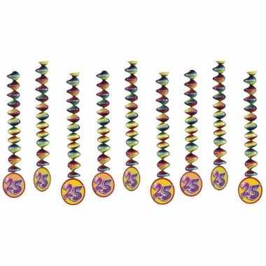 9x rotorspiralen 25 jaar versiering feestartikelen