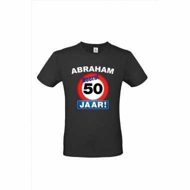 Abraham hoera 50 jaar stopbord pop shirt/ kleding voor opvulbare pop