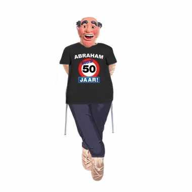 Abraham pop opvulbaar compleet met abraham stopbord 50 jaar pop shirt en masker