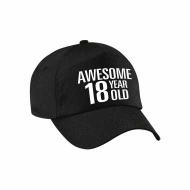 Awesome 18 year old pet / cap zwart voor dames en heren