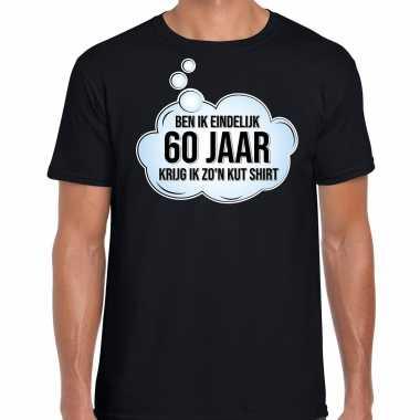 Ben ik eindelijk 60 jaar verjaardag cadeau t-shirt / shirt zwart voor heren