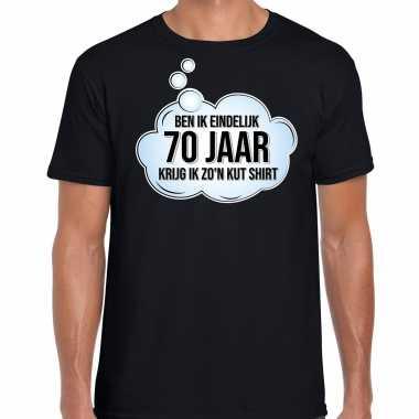 Ben ik eindelijk 70 jaar verjaardag cadeau t-shirt / shirt zwart voor heren