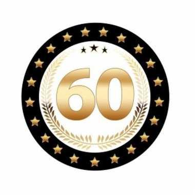 Bierviltjes 60 jaar diamanten jubileum zwart met goud