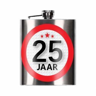 Cadeau 25 jaar drankflesje 200 ml