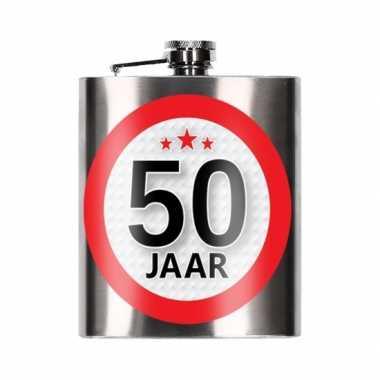 Cadeau 50 jaar drankflesje 200 ml