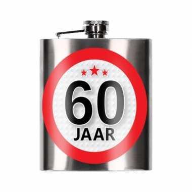 Cadeau 60 jaar drankflesje 200 ml