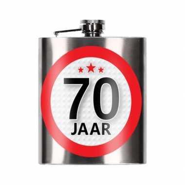 Cadeau 70 jaar drankflesje 200 ml