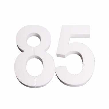 Cijfer drie van piepschuim 25 cm