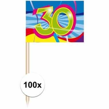 Decoratie prikkers 30 jaar 100 stuks