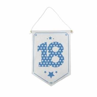 Decoratie vlaggetje/vaantje 18 jaar