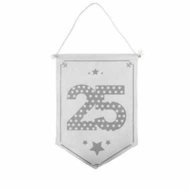 Decoratie vlaggetje/vaantje 25 jaar
