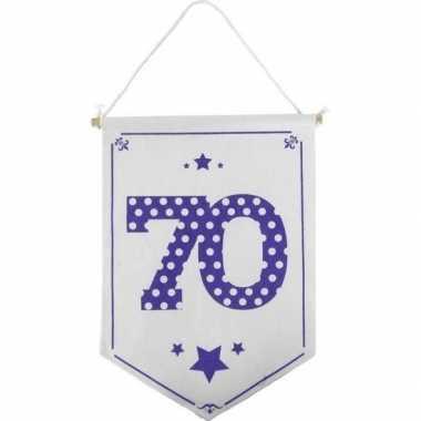 Decoratie vlaggetje vaantje 70 jaar