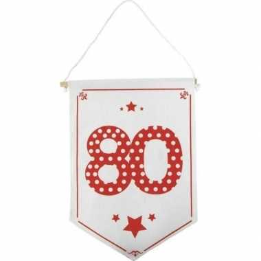 Decoratie vlaggetje/vaantje 80 jaar