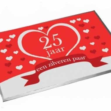 Deurmatten 25 jaar getrouwd 40 x 60 cm