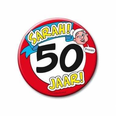 Feestartikelen xxl 50 jaar verjaardags sarah button