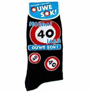 Fun sokken voor de 40 jarige