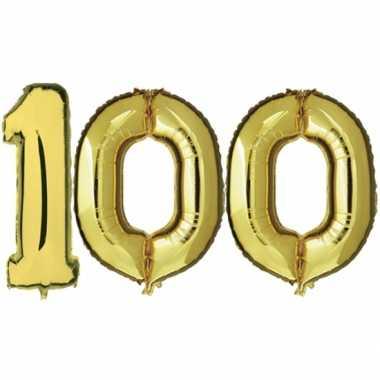 Gouden opblaasbare 100 folie ballonnen