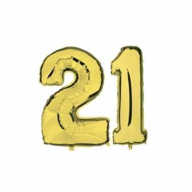 Gouden opblaasbare 21 folie ballonnen