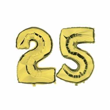 Gouden opblaasbare 25 folie ballonnen