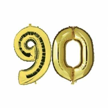 Gouden opblaasbare 90 folie ballonnen