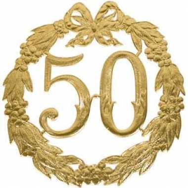 Wonderbaarlijk Gouden trouwdag 50 jaar jubileum | Verjaardag-versiering.nl LK-39