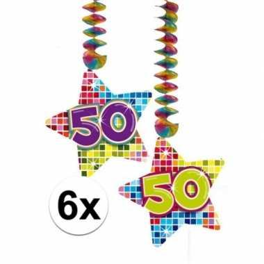 Hangversiering 50 jaar 6 stuks