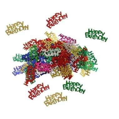 Happy birthday decoratie confetti 60 gram