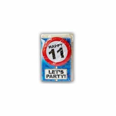 Happy birthday leeftijd kaart 11 jaar