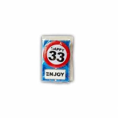 Happy Birthday Leeftijd Kaart 33 Jaar Verjaardag Versiering Nl