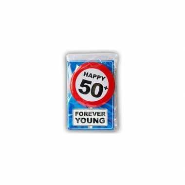 Happy birthday leeftijd kaart 50 jaar