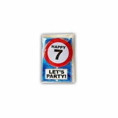 Happy birthday leeftijd kaart 7 jaar